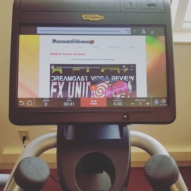 Of course while we were here I made sure Dreamcasthub.com was optimized for the @technogym elyptical! We strive for only excellence!