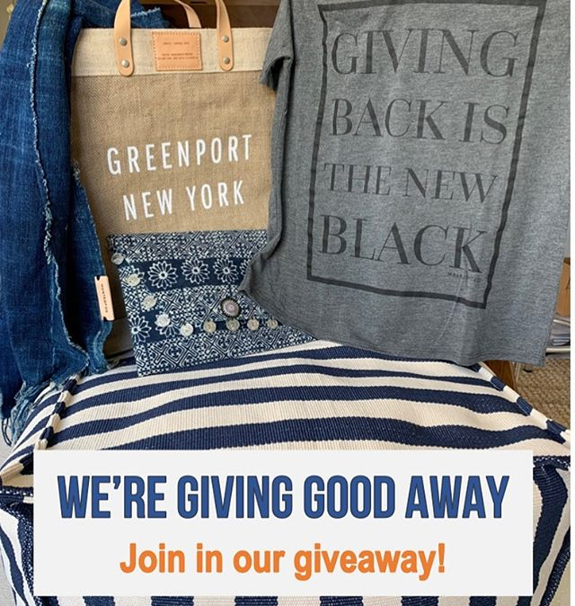 We are giving away some GOODies to celebrate a great summer in our Greenport pop up. Go to our website (link in bio) and share your email in our 'stay in touch' box.  www.generalgoodstore.com/stayintouch  We'll email you if you are one of the lucky recipients of some GOODies!!!!