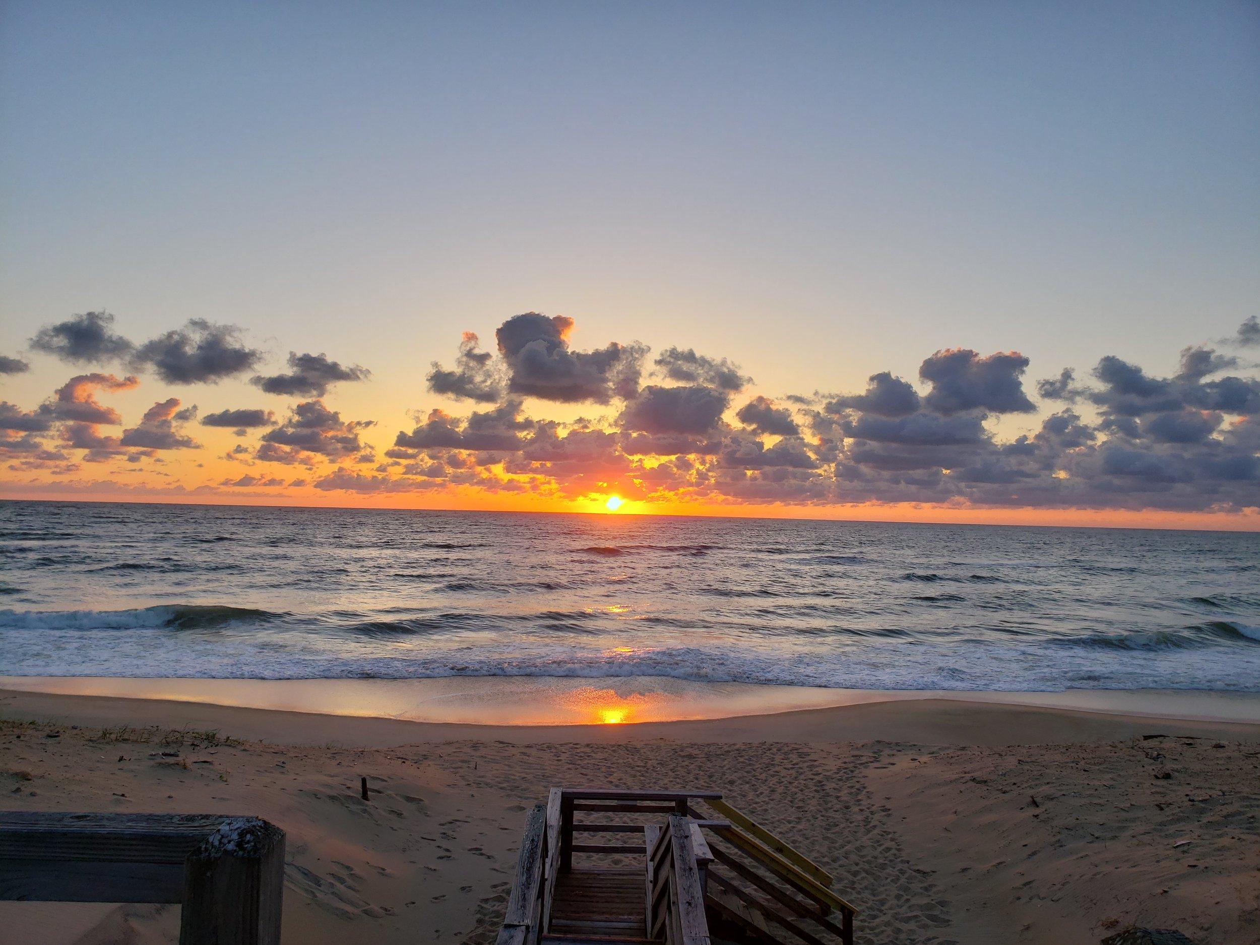 Serene morning sunrise from the walkover