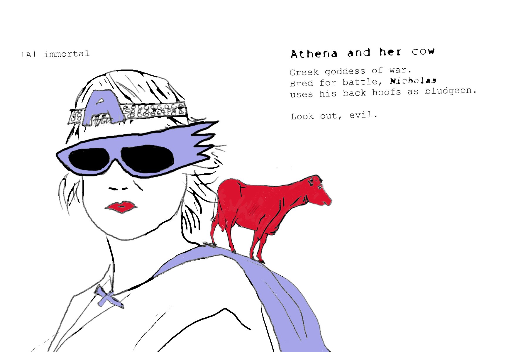 warriors and their pets_01 athena.jpg