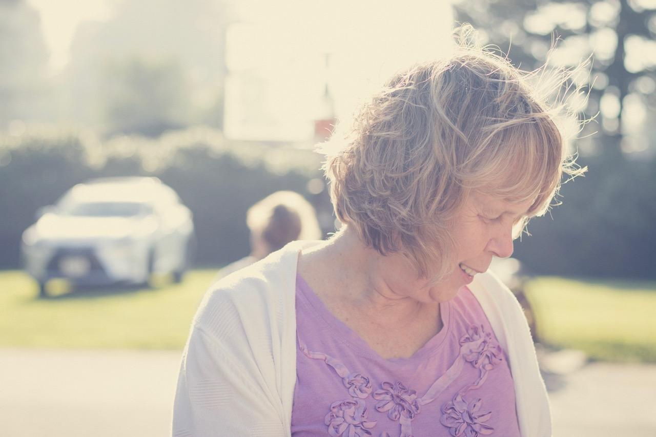 Sue Long, my mum, looking beautiful in the Tillamook outdoors.