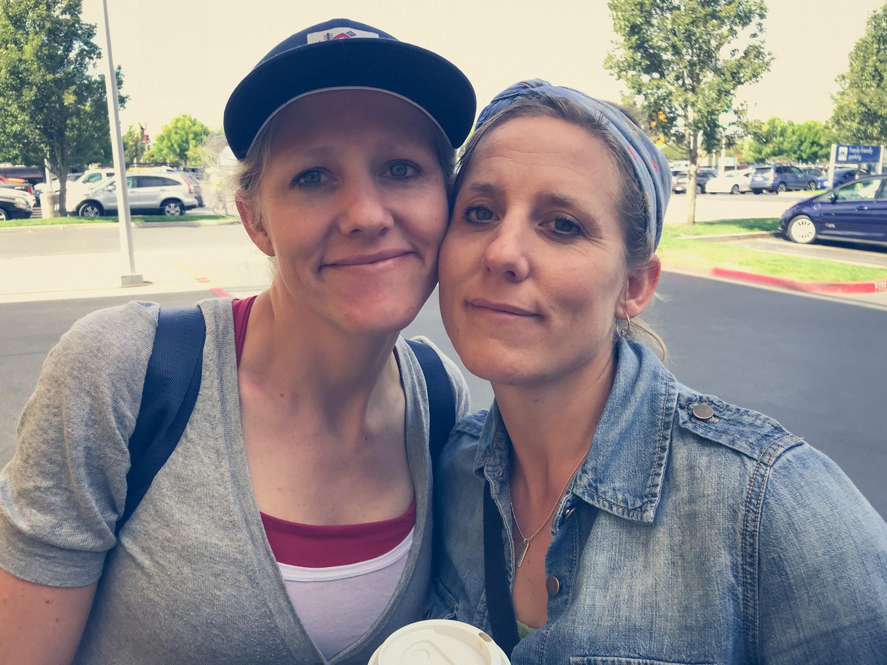 Two beautiful blonde sisters.