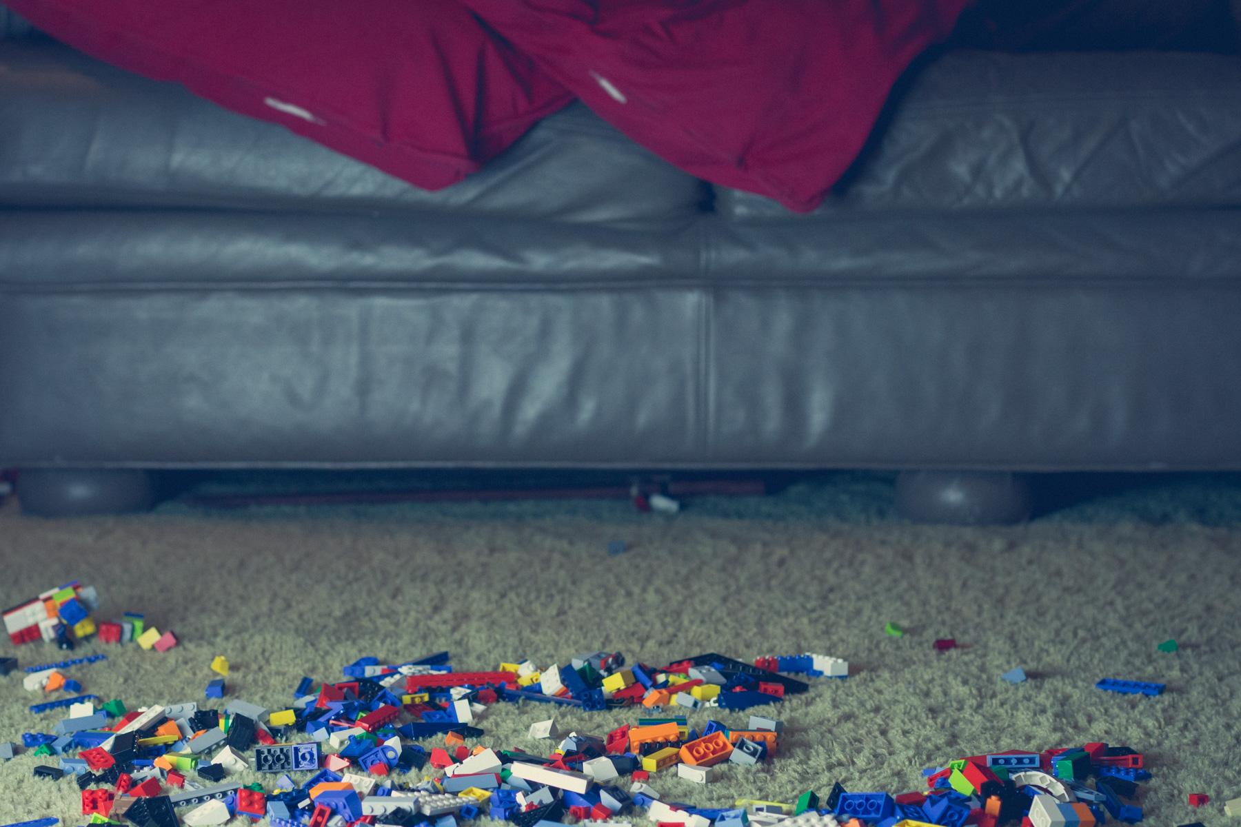 Thirty four million LEGO bricks left on living room floor by beastly children.