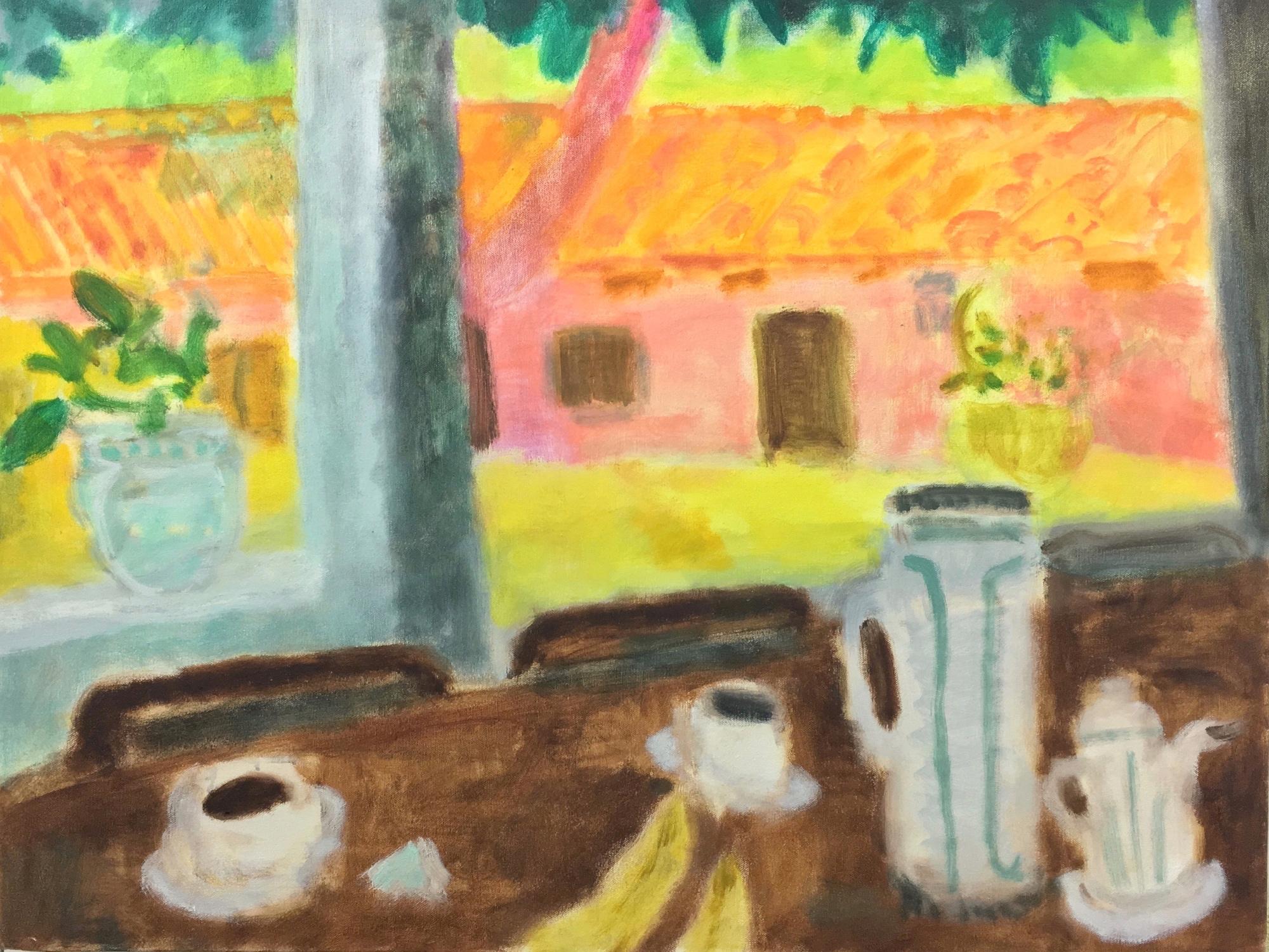 Desayuno, 2018, oil on canvas, 26x34 inches