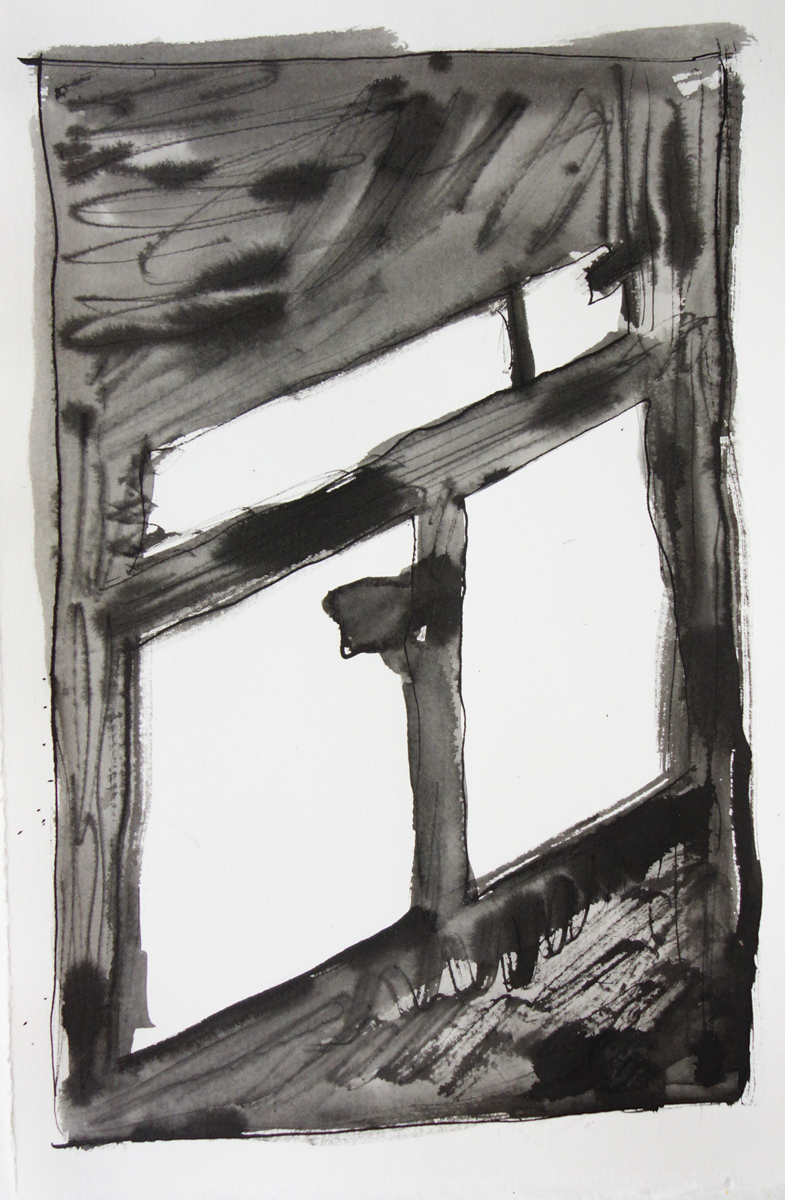 Window, 2017, ink on paper, 12x9 inches