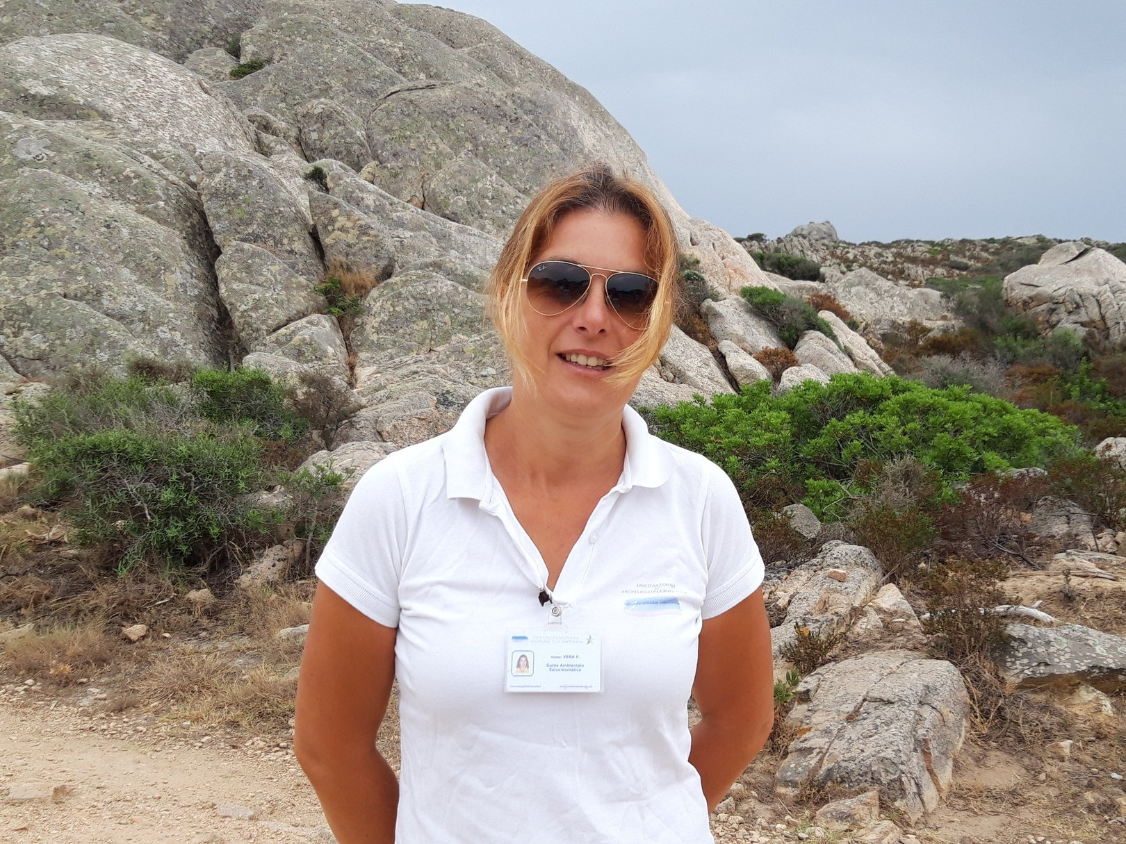 Vera Pittalis   After years of leadership in Retailing and Human Resources, Vera Pittalis returned to Sardinia. Since 2013, she has worked as an Environmental Guide to Hiking in the National Parks of La Maddalena and Asinara. Lover of nature and history, she has managed to transform her passion into work.