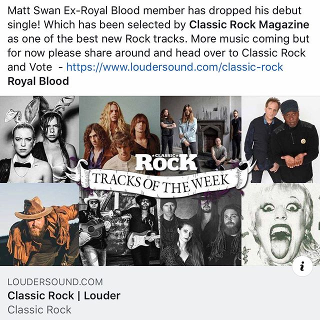 Massive thanks to @classicrockmag for selecting SBS💦 as one of the best new ⚡️Rock Tracks⚡️ head over to www.louder.com/Classic-rock and vote