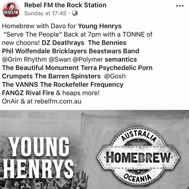 Feeling thankful to be played with so many bands i love 🤘 @rebelfmtherockstation @younghenrys