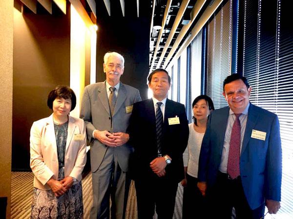 - At CCS Japan Convention Tokio 2018, with Reyco Miyamoto, Frank Cousineau, CCS USA, Dr. Kenji Miyamoto, MD. Ph. D. Hokkaido University, our interpreter and Dr. Rodrigo Rodriguez.
