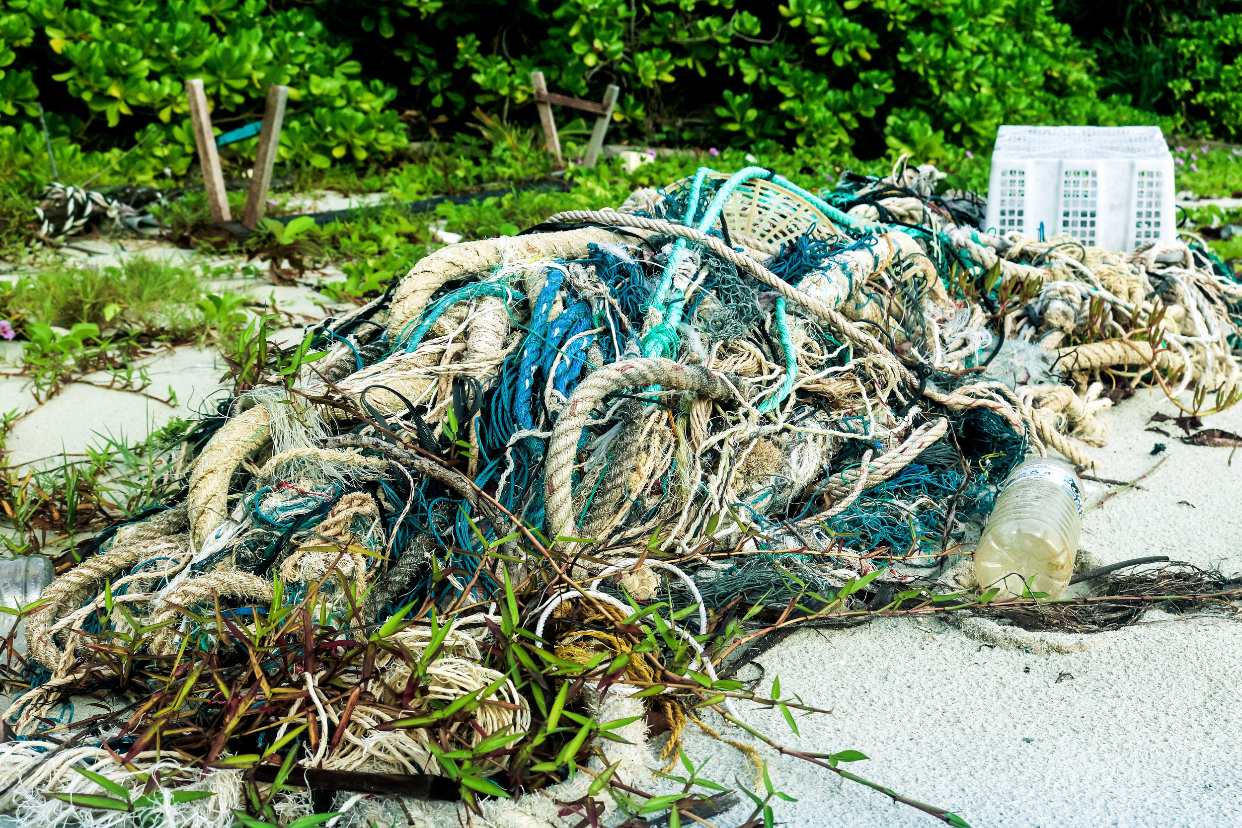 Ghost gear up close. Just a small portion of what was removed from the sea that day.