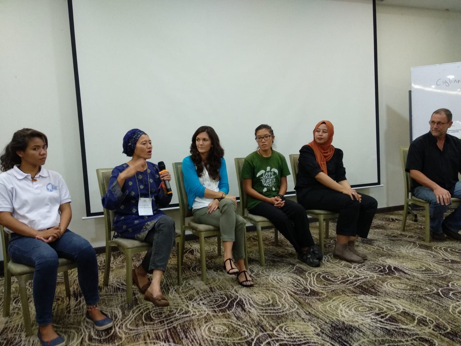 question and answer session with the presenters -
