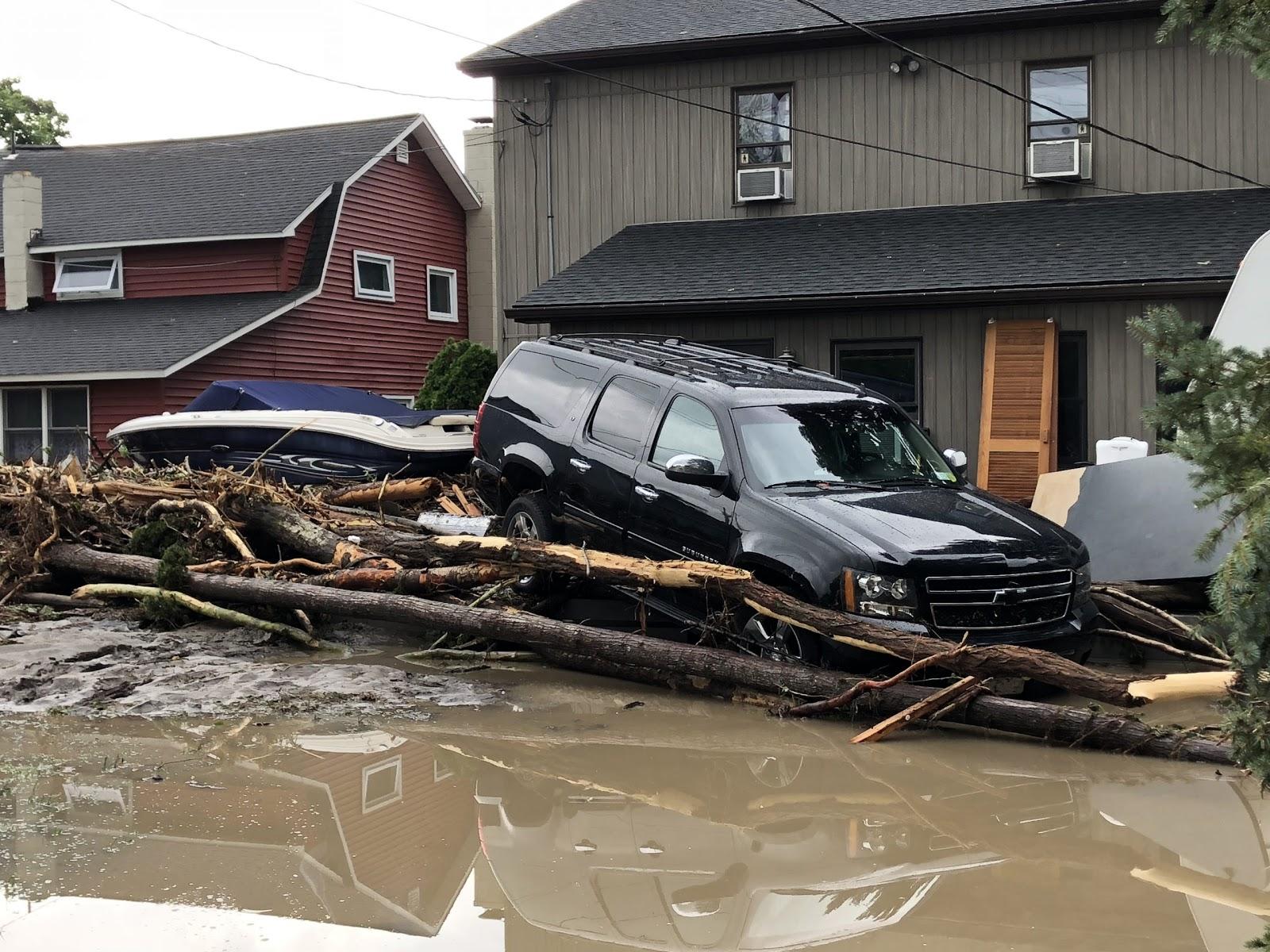 Flood damage in Watkins Glen, NY 2018