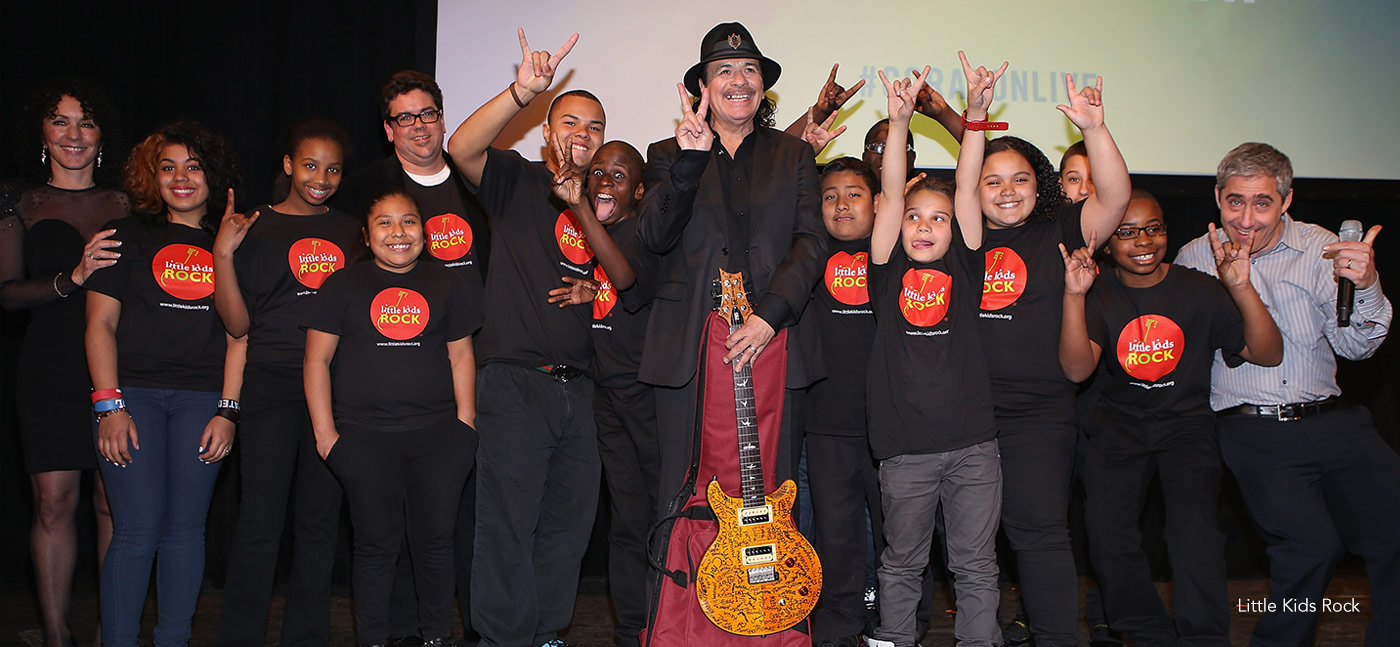 Little Kids Rock , just one of Carlos Santana's ways of inspiring and caring for young people at risk.