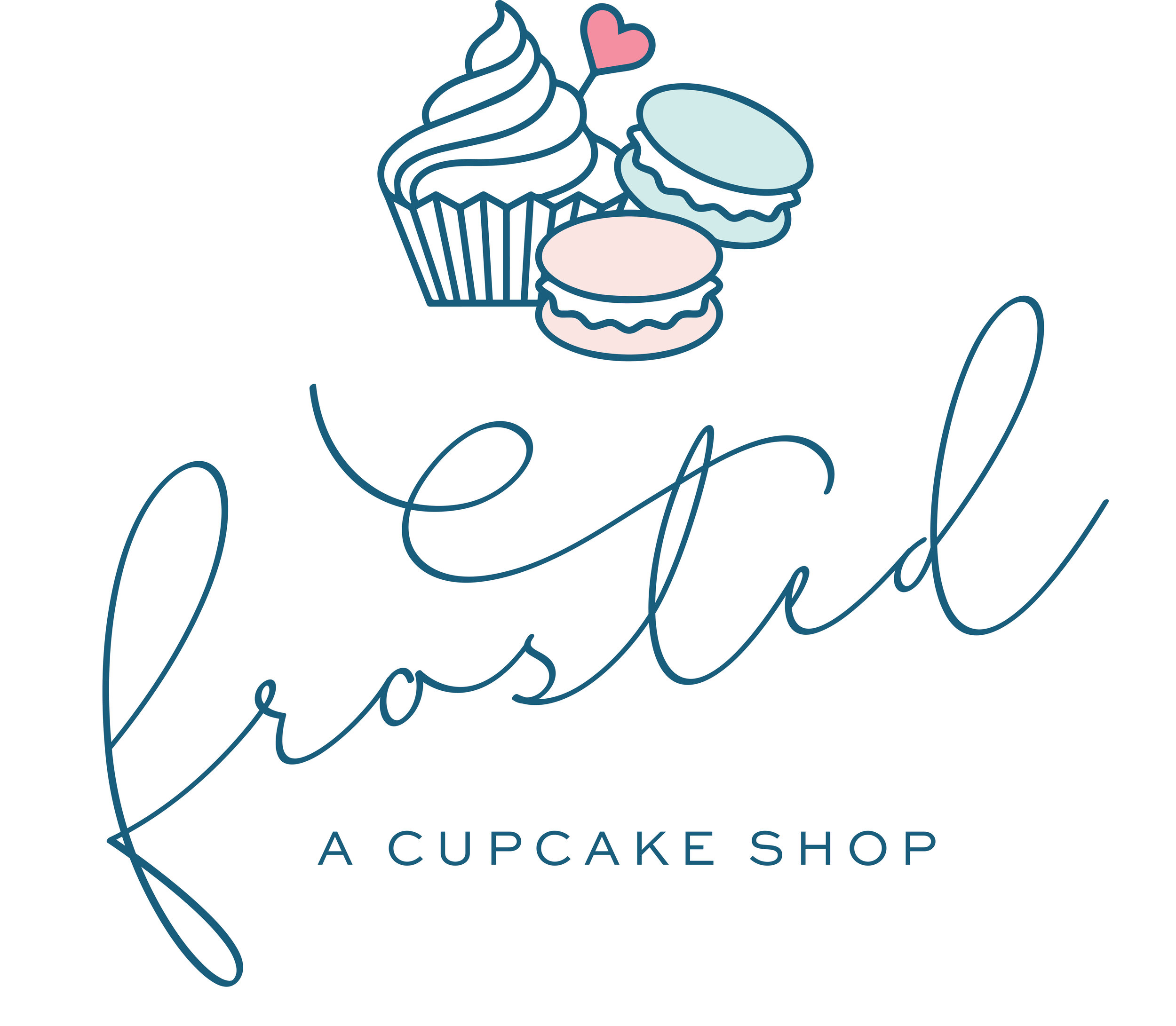 Frosted Cupcake Shop Logo