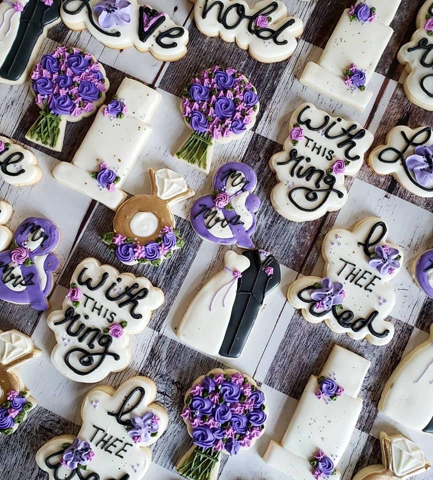 purple wedding cookie set.jpg