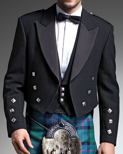 Prince Charlie Black (Silver Button)