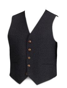 5-Button Charcoal Tweed Waistcoat