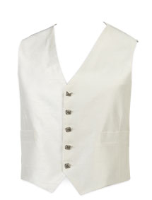 5-Button Ivory Waistcoat (Silver Button)