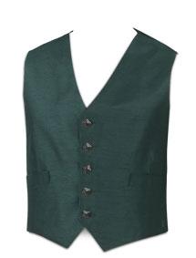 5-Button Green Waistcoat (Dark Button)