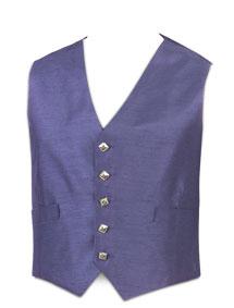 5-Button Grape Waistcoat (Silver Button)