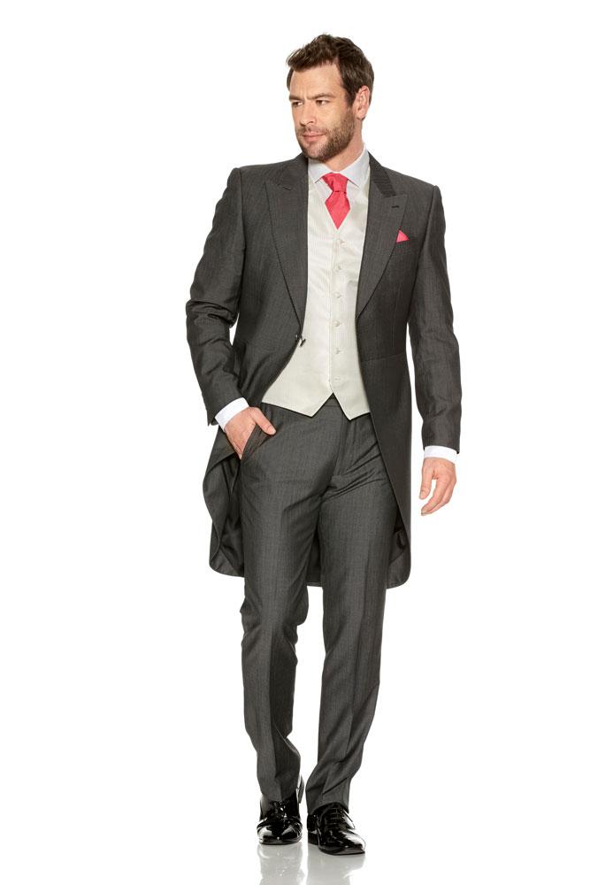 Grey Silk Tailcoat Suit