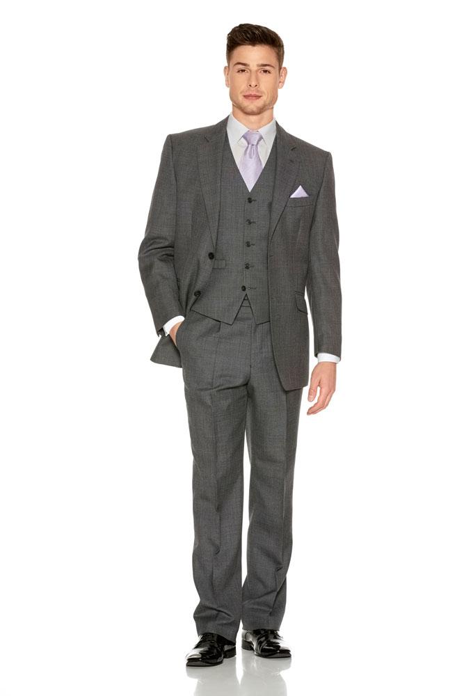 Mid Grey Short Jacket Suit