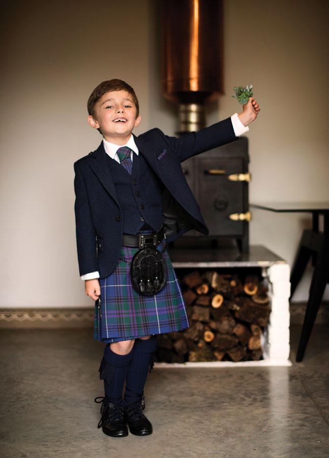 Boy's Navy Tweed