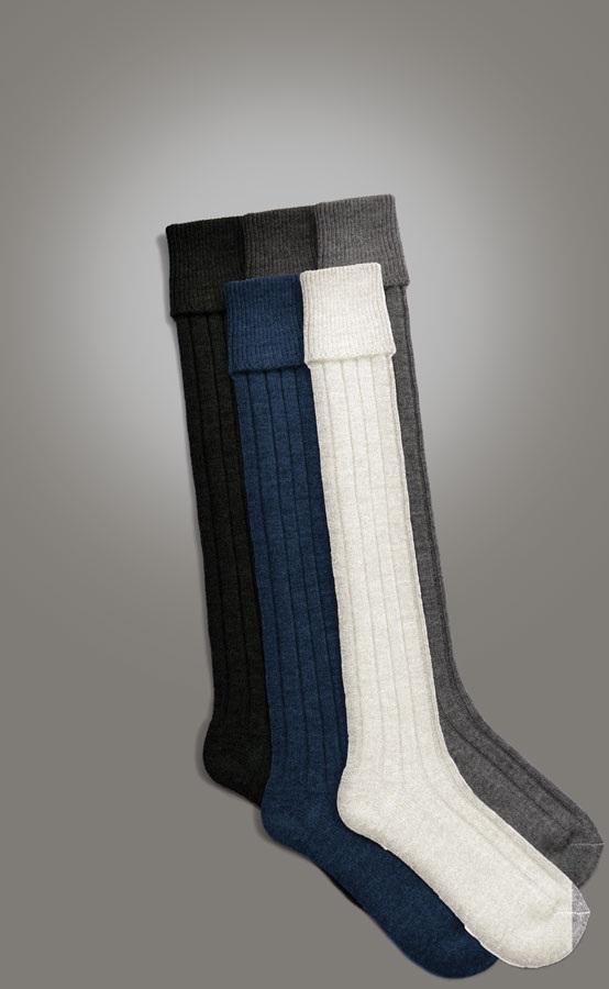 Black, Cream, Navy, Charcoal and Light Grey Hose