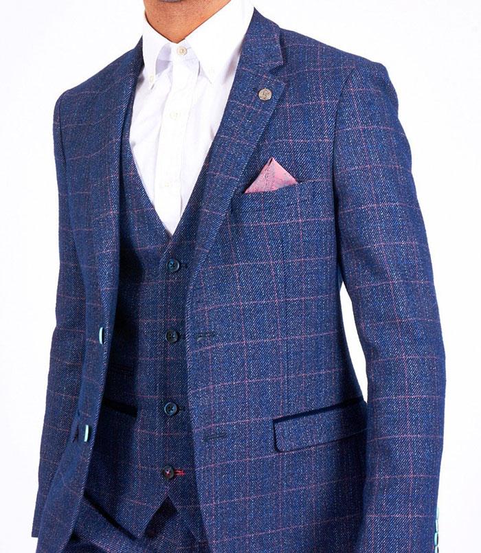 HARRY - Indigo Tweed Check