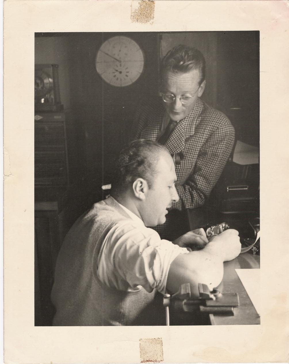 Antranig Knadjian in his work shop