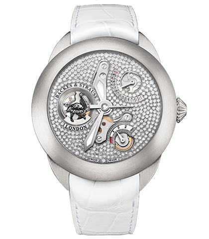 Earl of Strauss Brilliant ideal-cut diamonds in dial