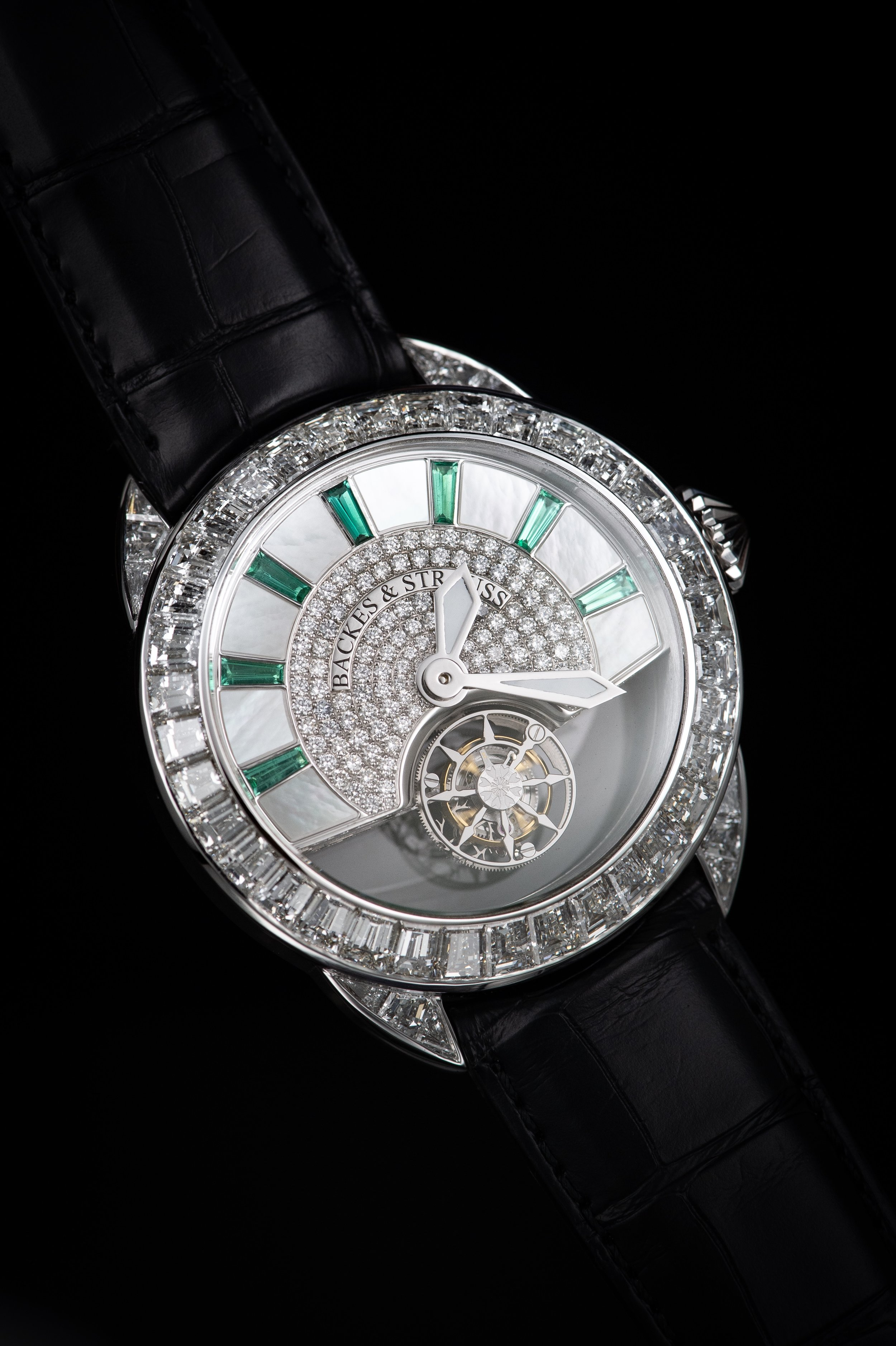 Piccadilly 45 King Tourbillon iconic diamond encrusted watch side-shot