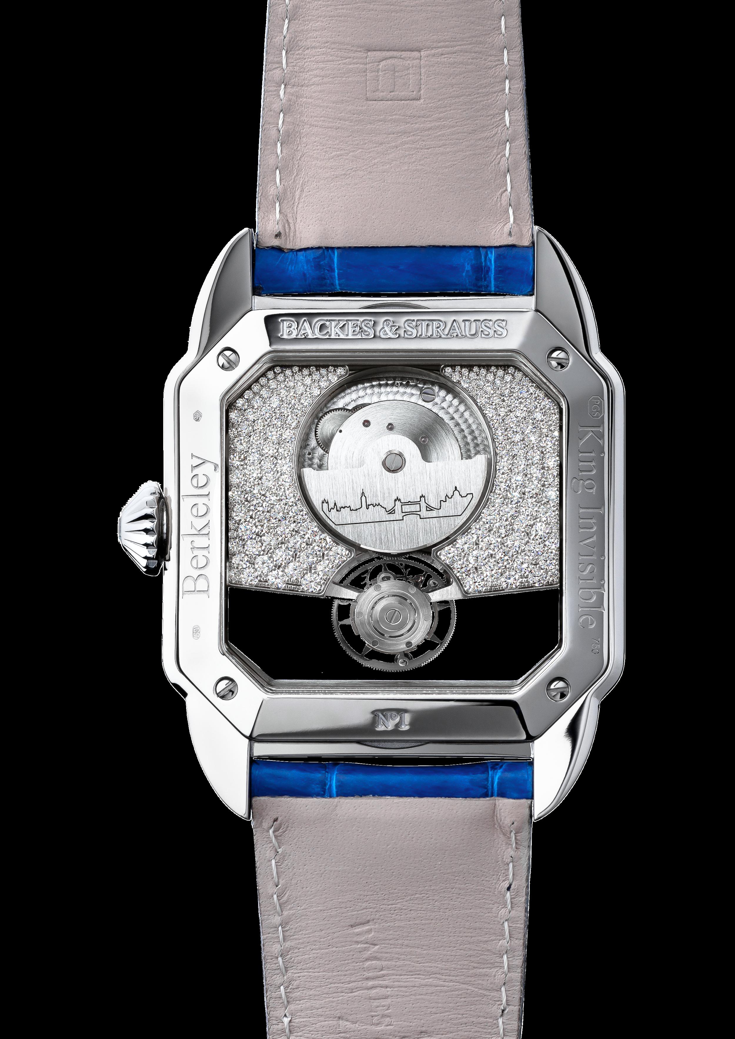 Berkeley 43 King Tourbillon bespoke diamond watch back case