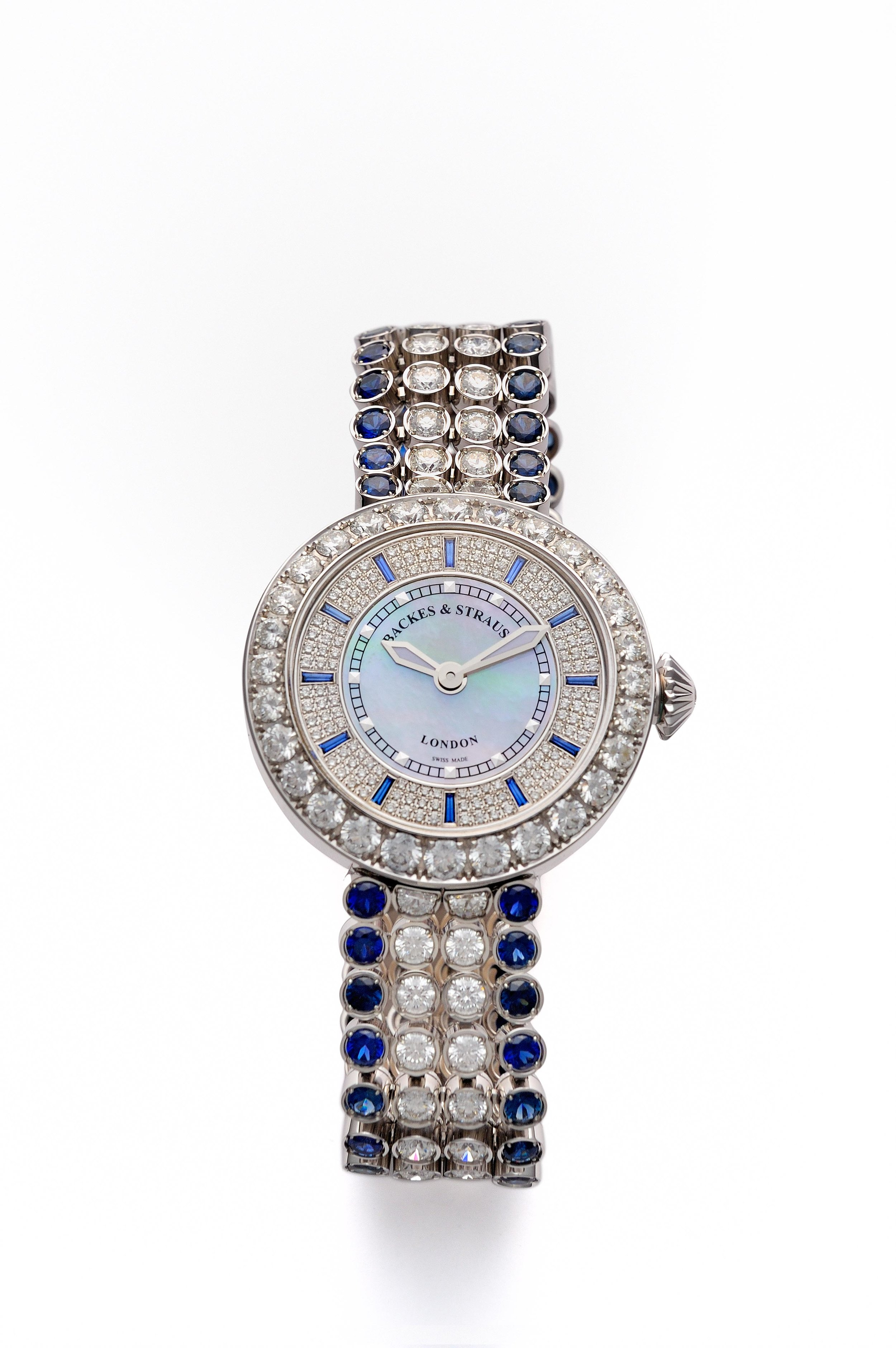 Piccadilly Princess 37 blue velvet diamond watch