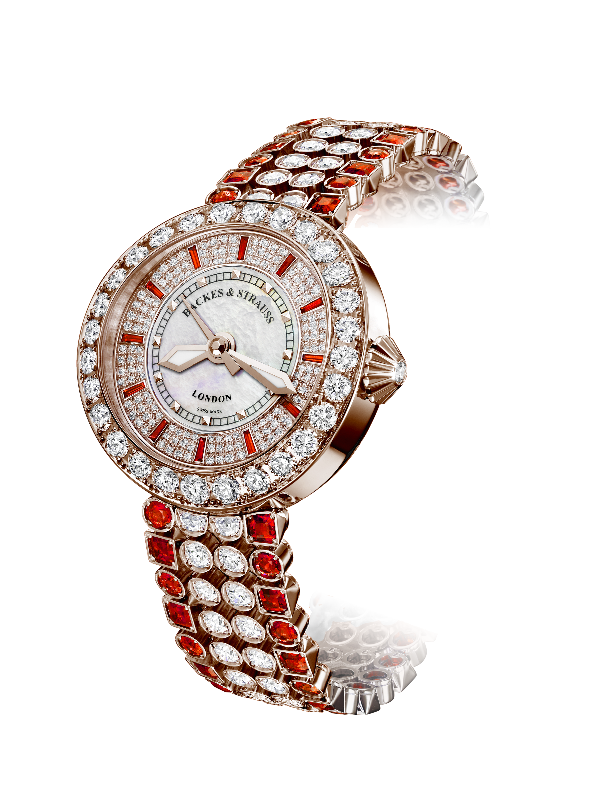 Piccadilly Princess 37 red rose diamond watch
