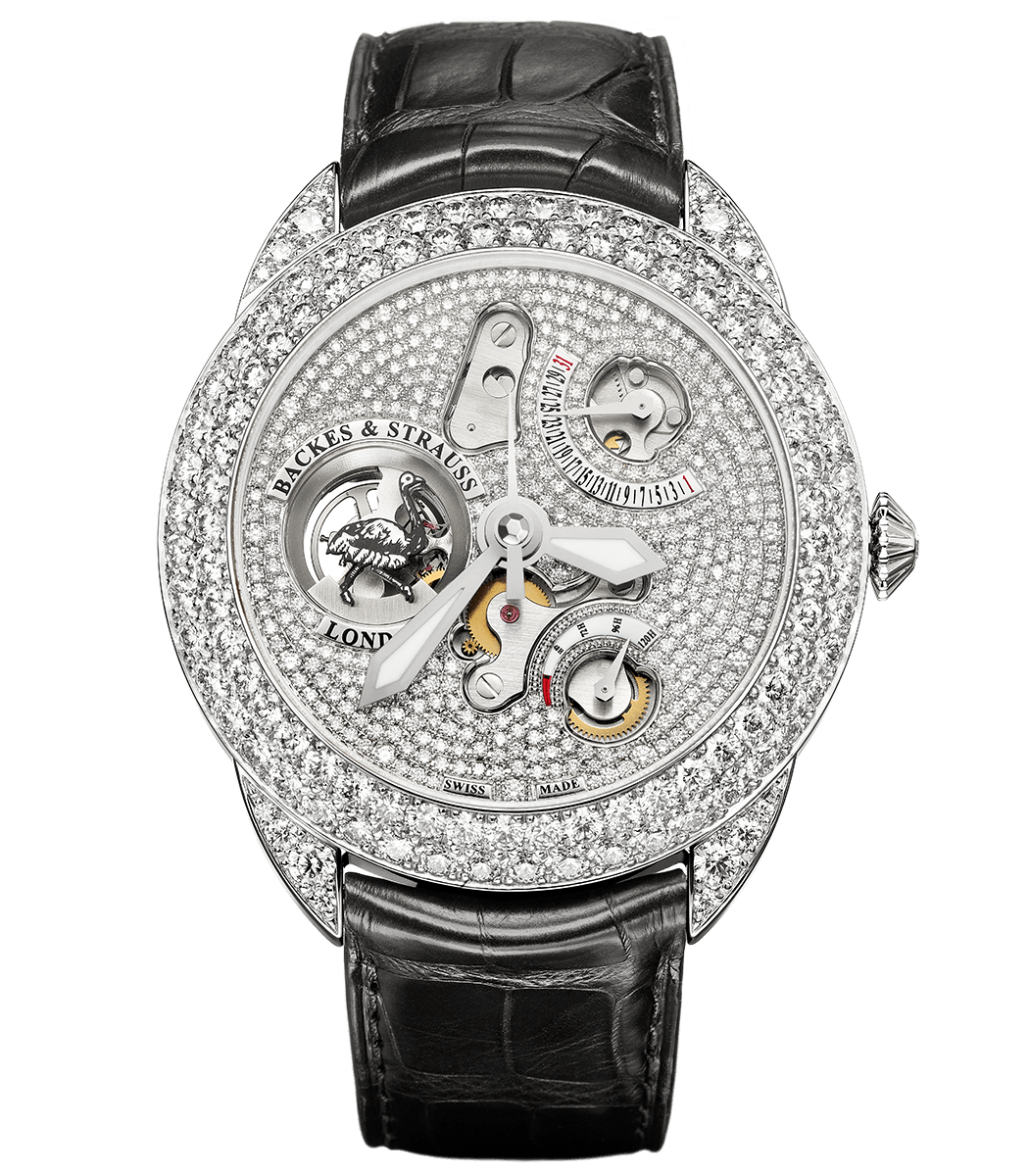 Earl of Strauss 45 limited edition watch with ideal-cut diamonds in case and dial