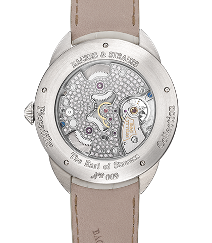 Earl of Strauss Brilliant diamond watch back case