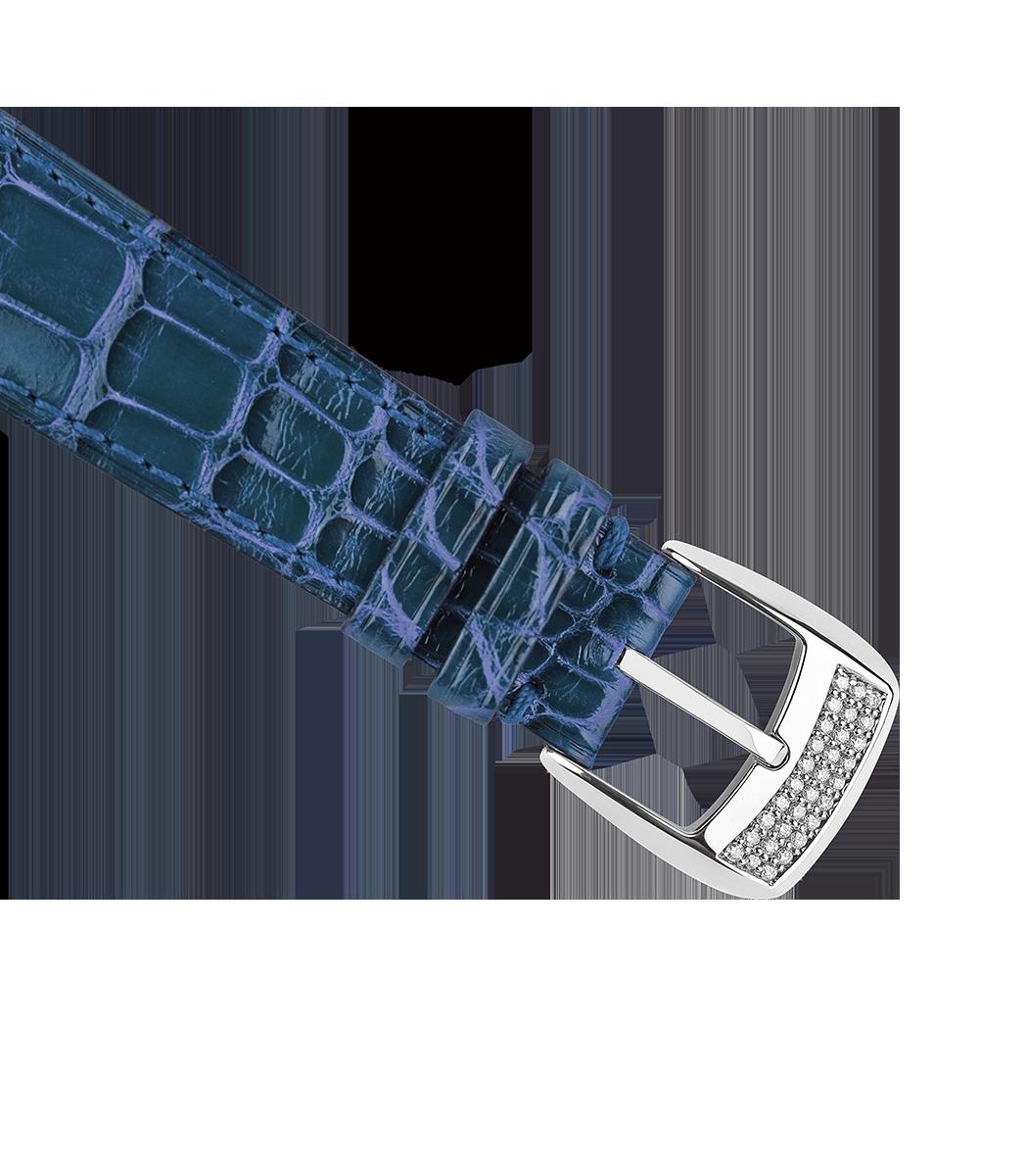 Regent 1609 AD 4047 limited edition diamond watch blue alligator strap