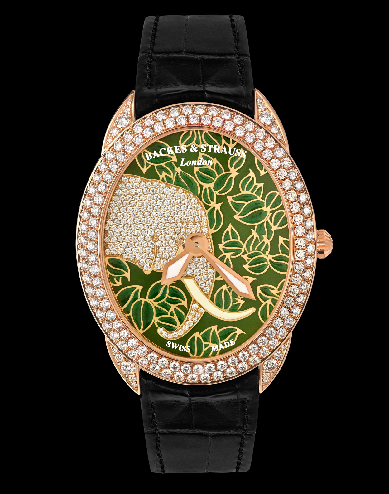 Tears of the African Elephant diamond encrusted watch
