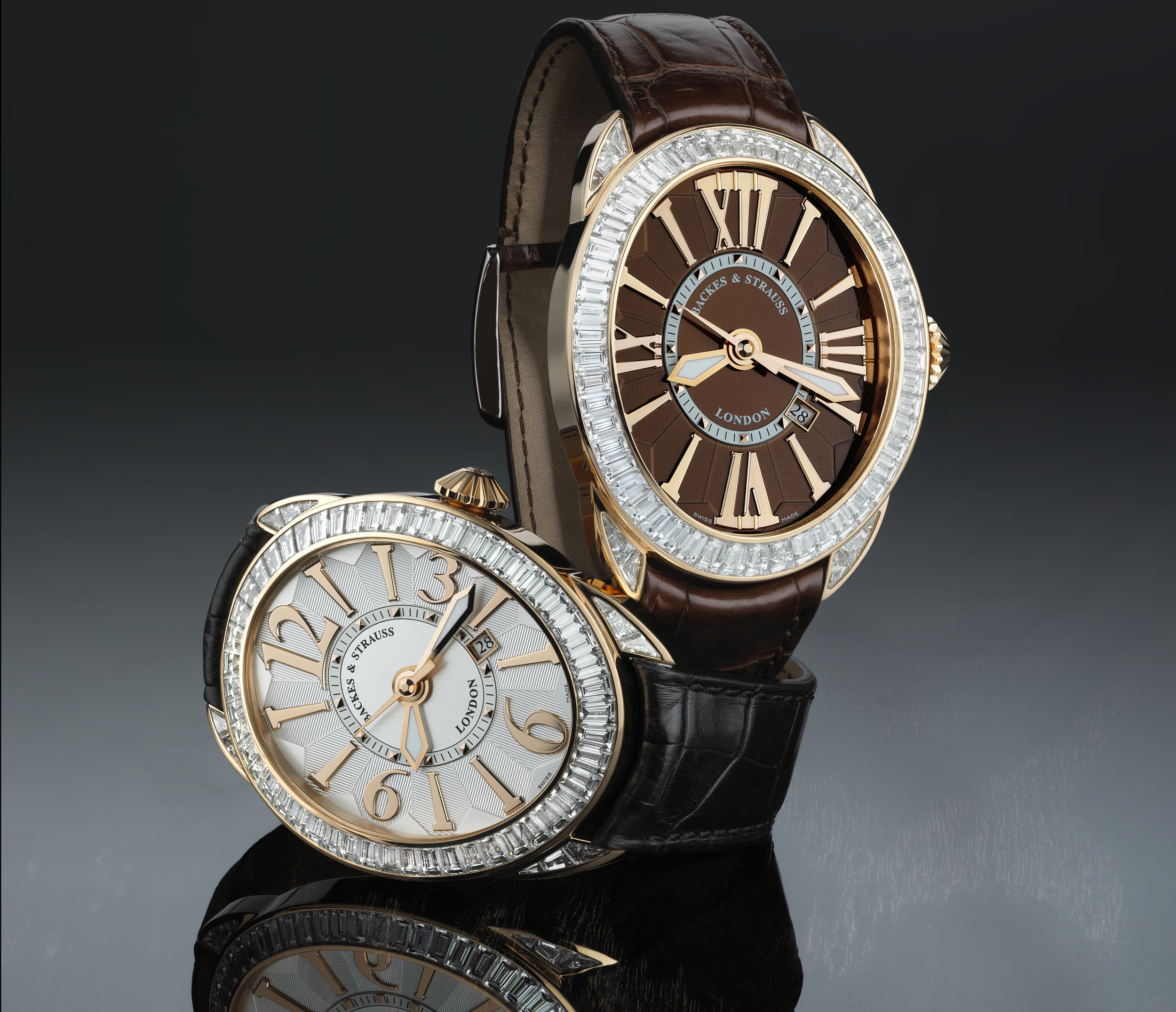 Regent Baguette 4452 diamond watch for him and her