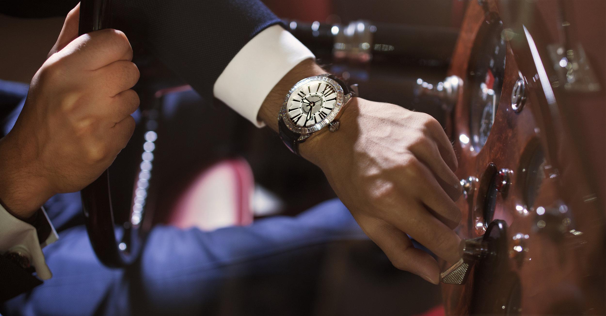 Regent Baguette 4047 diamond watch for him
