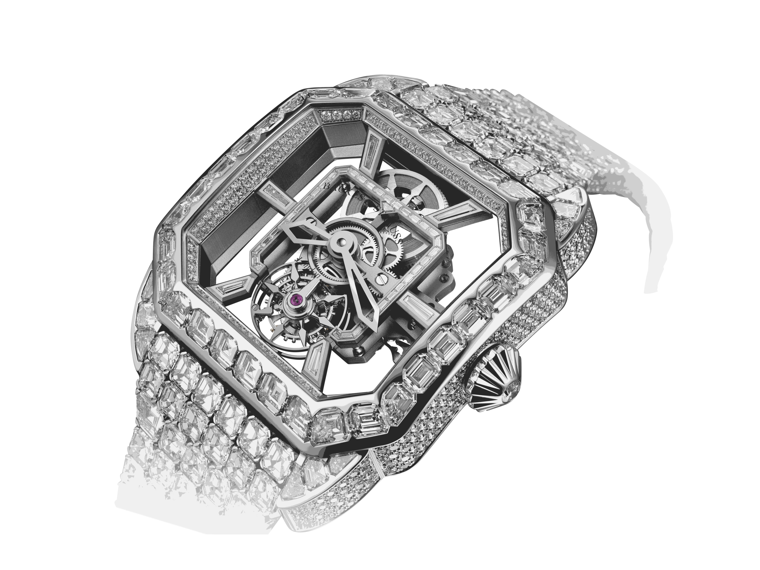 Royal Berkeley Tourbillon 45 diamond watch side-shot