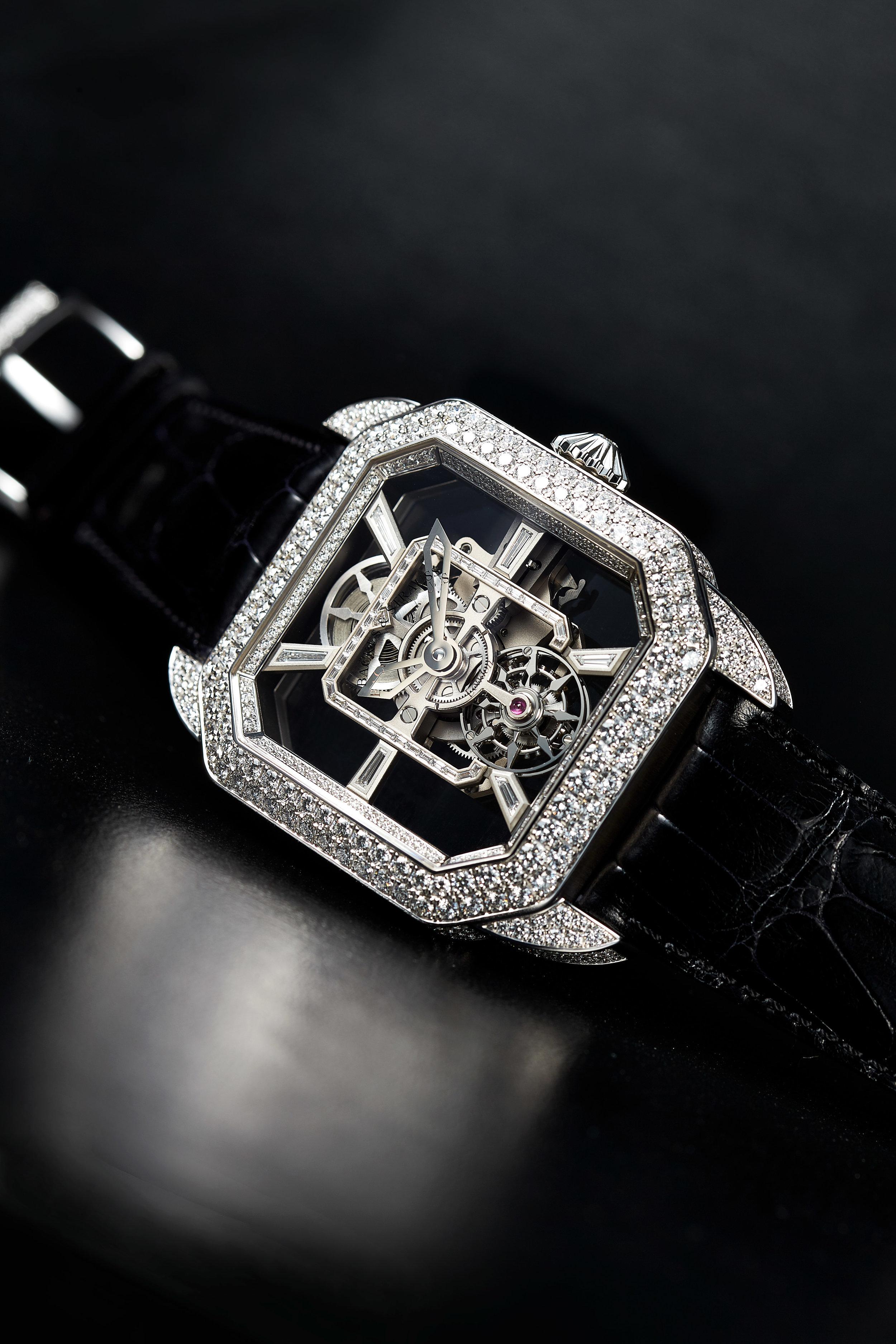 Berkeley Emperor Brilliant Tourbillon 45 diamond watch side-shot