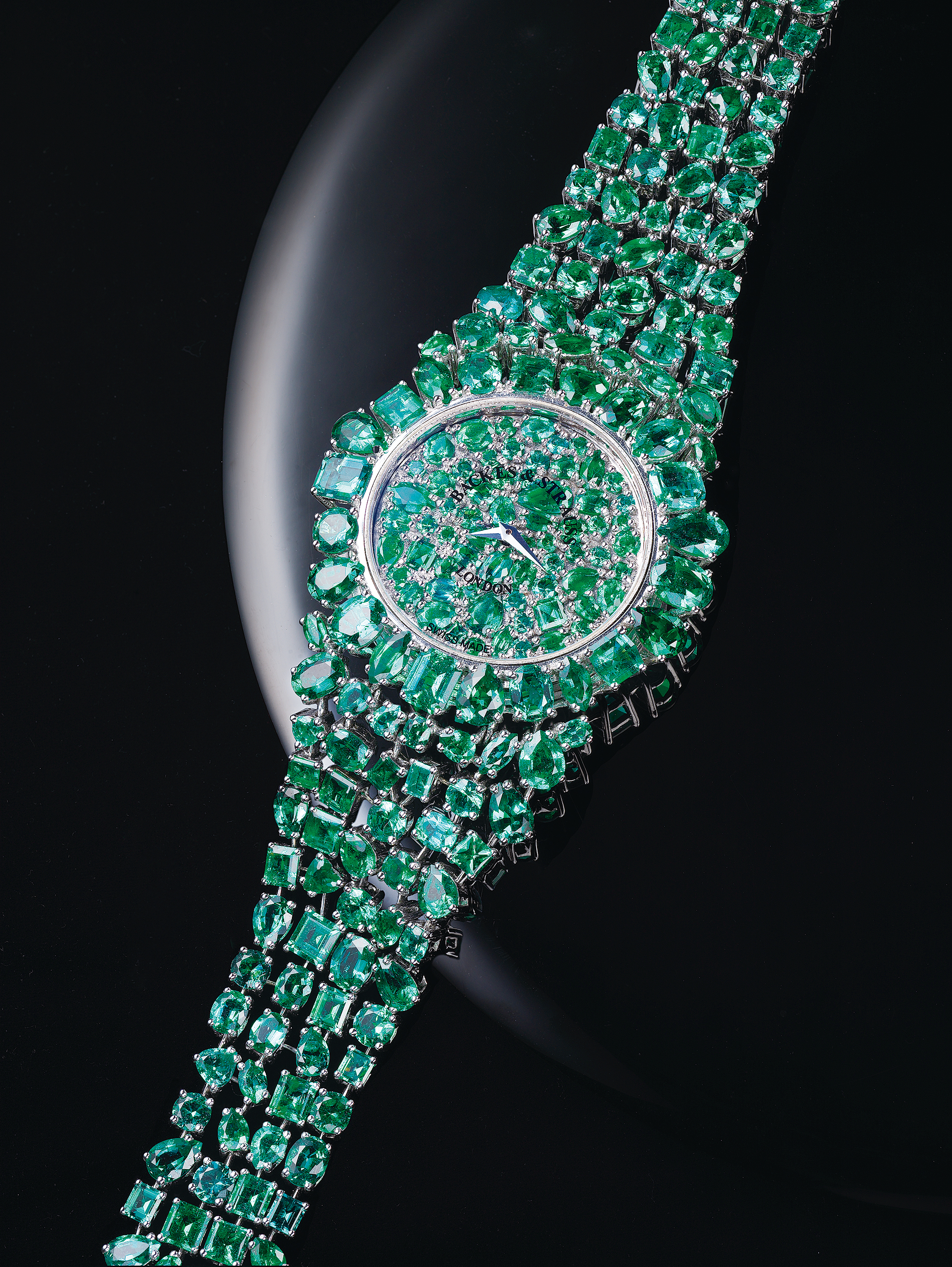 Piccadilly Royal Princesses Emerald Green diamond watch