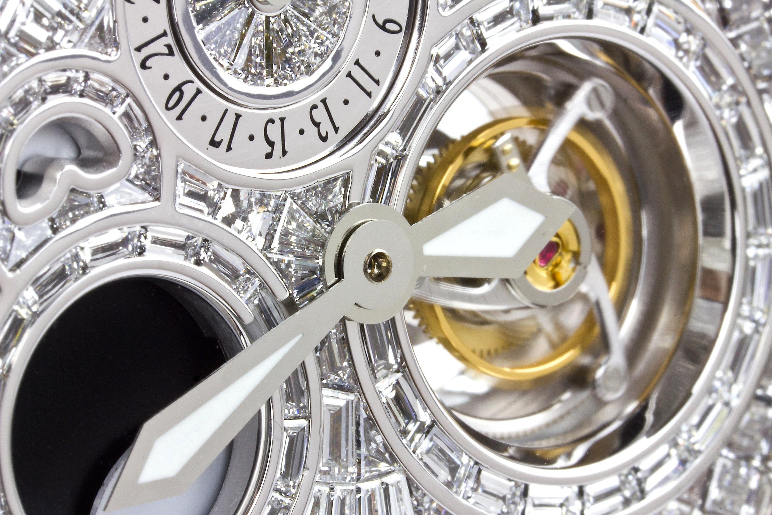 Regent Beau Brummel Tourbillon pocket watch 5058 diamond watch