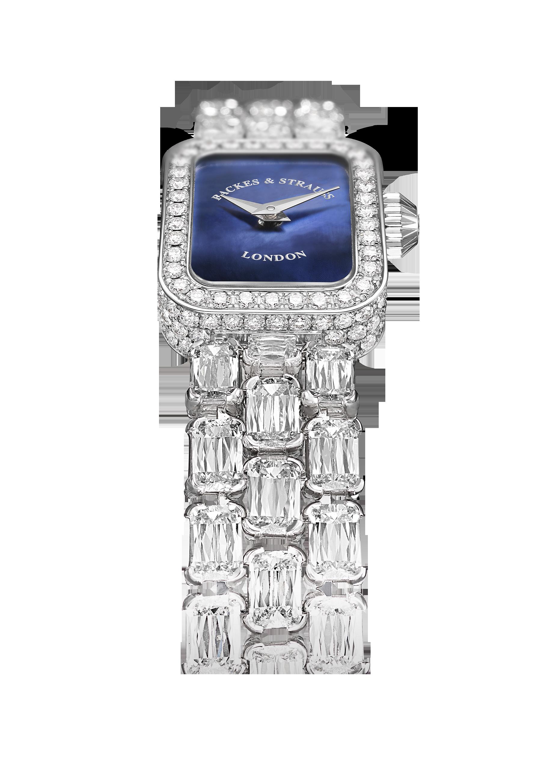 Royal Ashoka Pave diamond watch side-shot 2