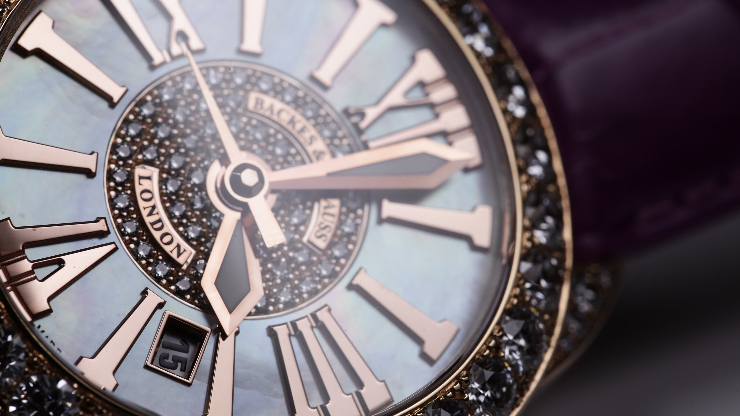 Diamond set dial of the Piccadilly collection- Backes & Strauss