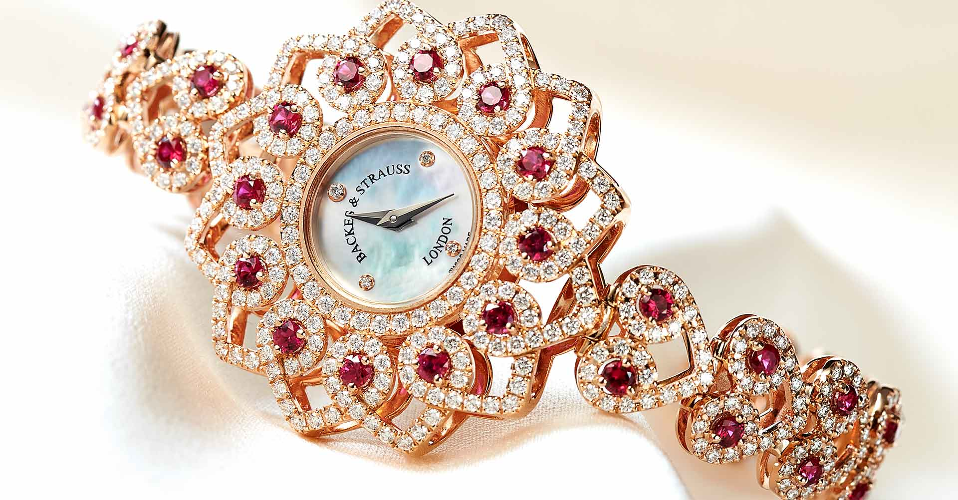 Victoria Princess red rose watch for her