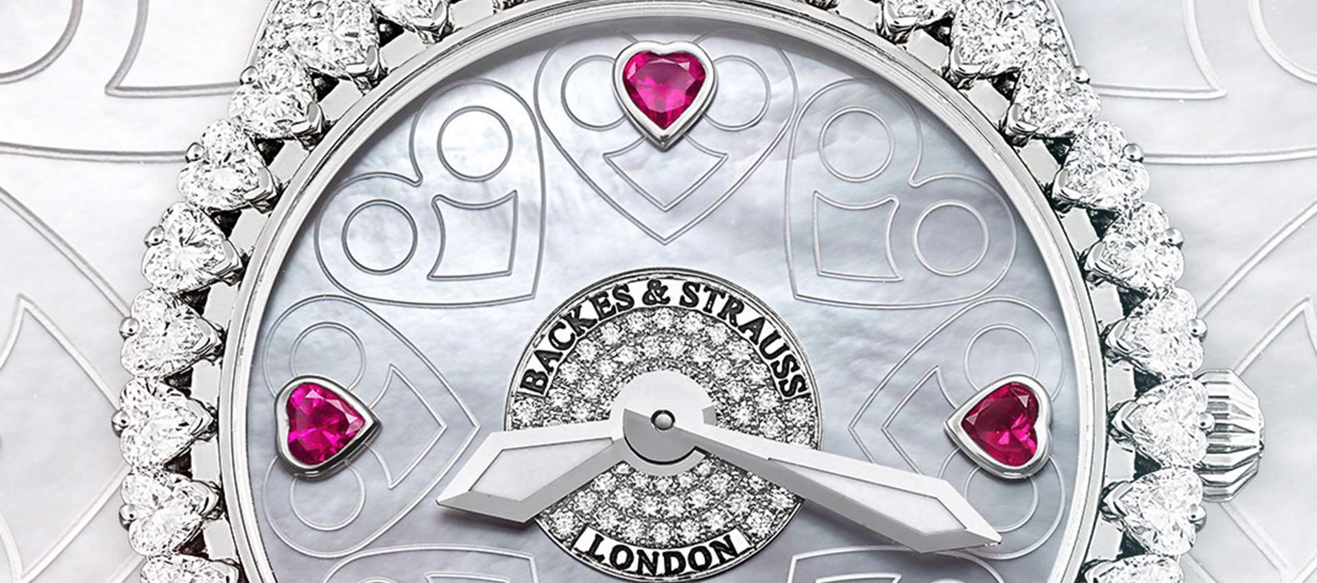 piccadilly renaissance diamond heart watch for her