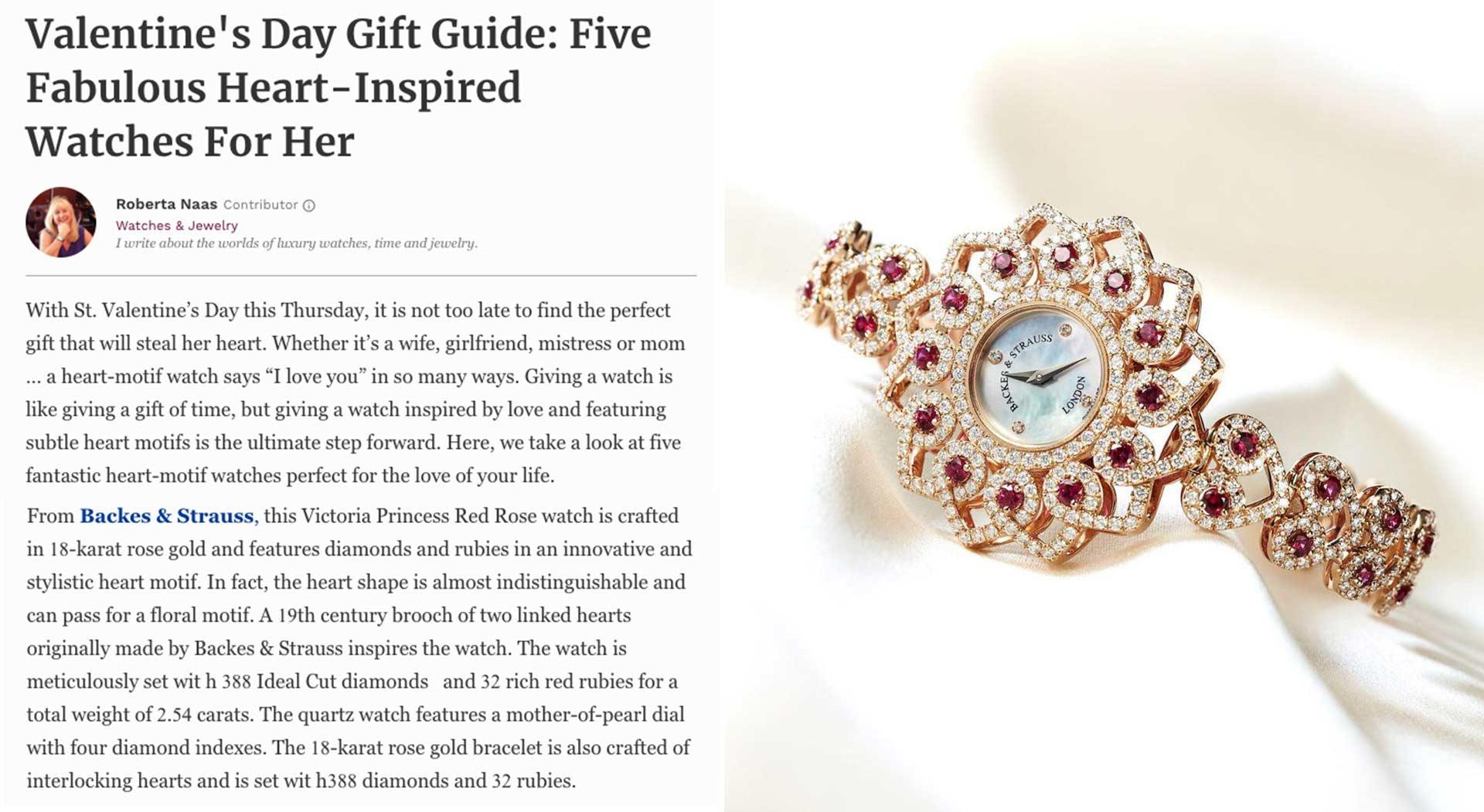 Princess Victoria valentine's gift diamond wristwatch for ladies
